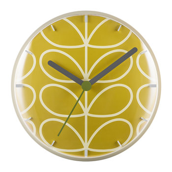 Linear Stem Wall Clock - Dandelion Yellow
