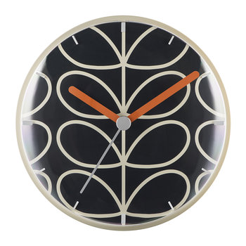 Linear Stem Wall Clock - Slate Grey