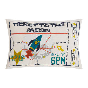 Ticket To The Moon Pillow