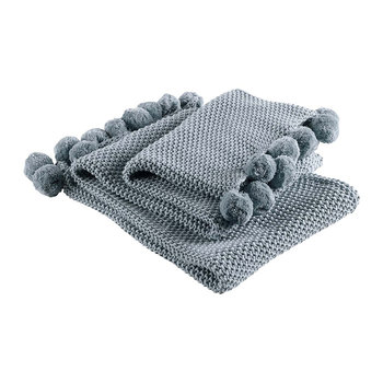 Knitted Throw 1 - Blue