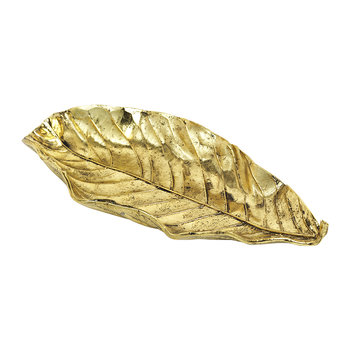 Deco Leaf Dish - Brass
