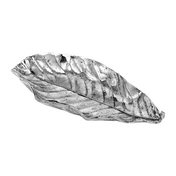 Deco Leaf Dish - Antique Silver