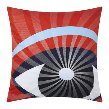 Eyes Cushion Cover - 45x45cm - Red