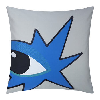 Star Cushion Cover - 45x45cm - Grey
