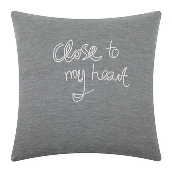 Close To My Heart Pillow - Marl Grey