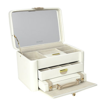 Belgravia Jewellery Box - Cream/Sand
