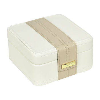 Belgravia Earring Box - Cream/Sand