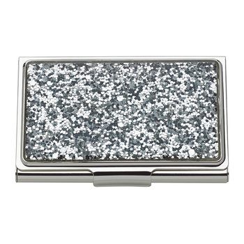 Simply Sparkling Card Holder - Silver