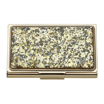 Simply Sparkling Card Holder - Gold