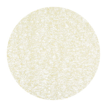 Metallic Lace Round Placemat - Gold