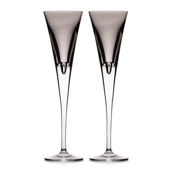 Eclipse Champagne Flutes - Set of 2 - Shale