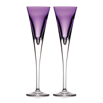 Eclipse Champagne Flutes - Set of 2 - Heather