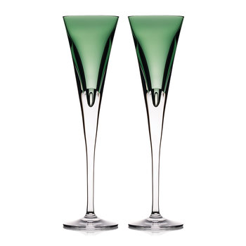 Eclipse Champagne Flutes - Set of 2 - Fern