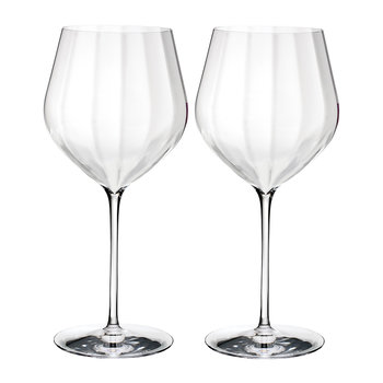 Optic 'Big Red' Wine Glasses - Set of 2