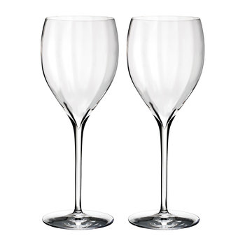 Optic 'Crisp White' Wine Glasses - Set of 2