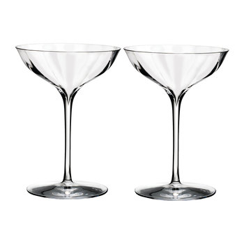 Optic Champagne Belle Coupe Glasses - Set of 2
