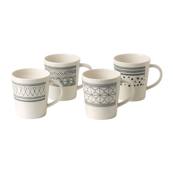 Ellen DeGeneres Charcoal Grey Mugs - Set of 4