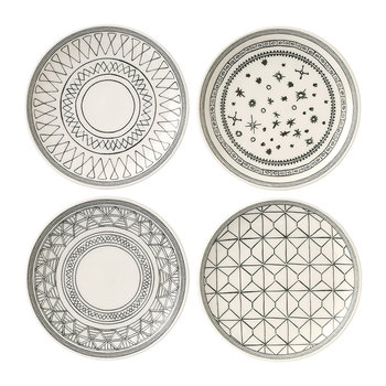Ellen DeGeneres Charcoal Grey Plates - 16cm - Set of 4