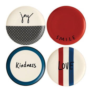 Ellen DeGeneres Joy Plates - 21cm - Set of 4