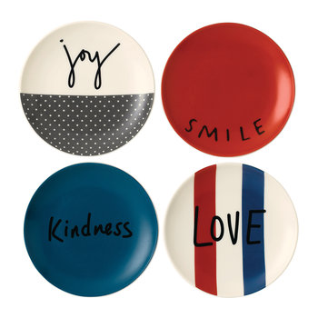 Ellen DeGeneres Joy Plates - 16cm - Set of 4