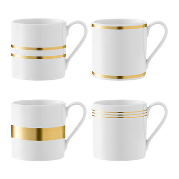 Deco Assorted Gold Mug - Set of 4