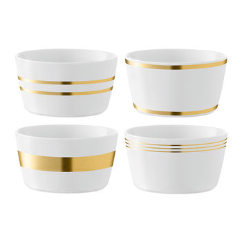 Deco Assorted Gold Bowl - Set of 4
