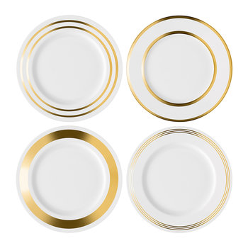 Deco Assorted Gold Dinner Plate - Set of 4
