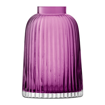 Pleat Vase - Heather
