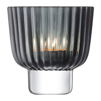 Pleat Tealight Holder - Gray