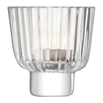 Pleat Tealight Holder - Clear