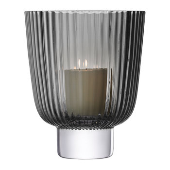 Pleat Storm Lantern - Gray