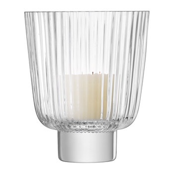 Pleat Storm Lantern - Clear