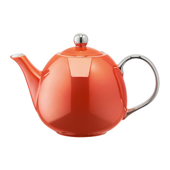 Polka Teapot - Burnt Orange