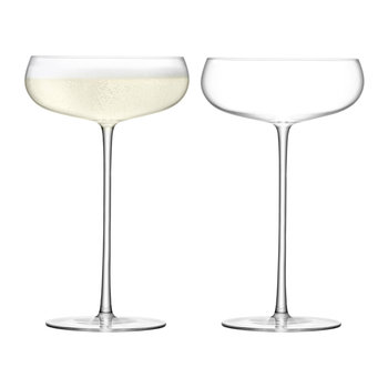 Wine Culture Champagne Saucer - Set of 2
