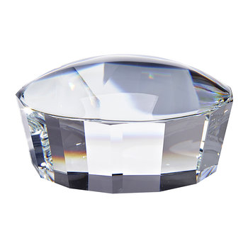 Facet Paperweight Lens - Crystal