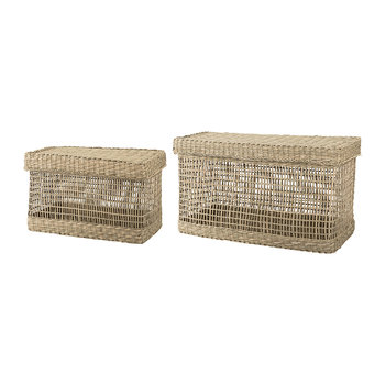 Seagrass Baskets - Natural - Set of 2