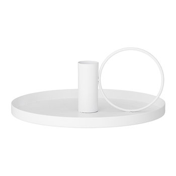 Metal Candlestick - White