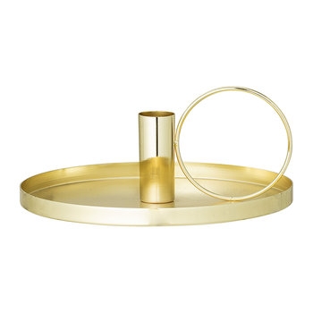 Metal Candlestick - Gold