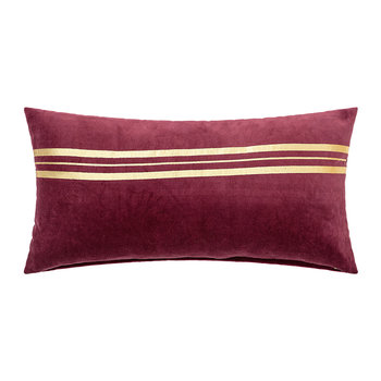 Red/Gold Stripe Pillow - 60x30cm