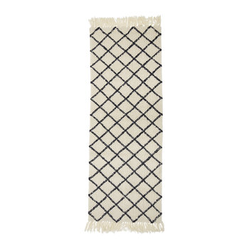 Diamond Runner Rug - 200x70cm - Natural/Gray