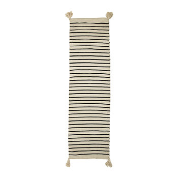 Striped Rug - 240x70cm - Natural/Grey
