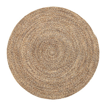 Woven Round Rug - Natural