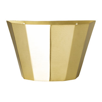 Wall Basket - Brass