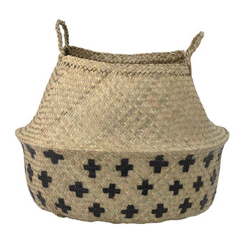 Seagrass Basket - Natural/Black