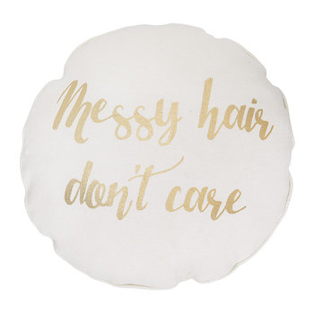 'Messy Hair Don't Care' Cushion