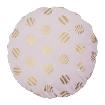 Spotty Pillow - Rose/Gold