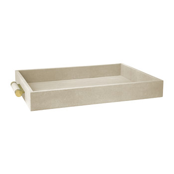 Classic Shagreen Serving Tray - Wheat