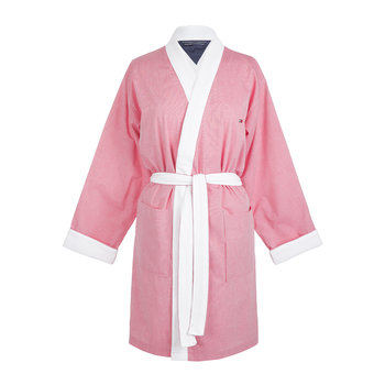 Chambray Bathrobe - Pink