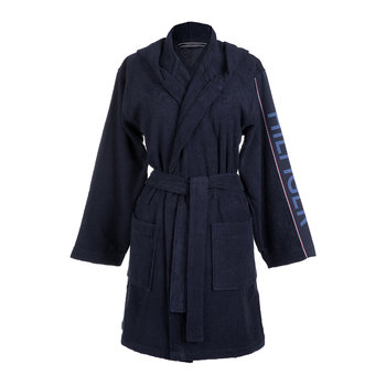 Hilfiger Iconic Hooded Bathrobe - Navy