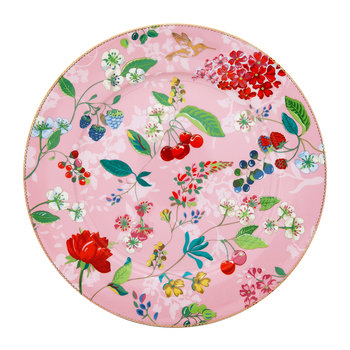 Floral 2.0 Hummingbird Serving Plate - Pink
